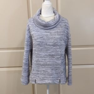 Anthropologie purple and gray sweater
